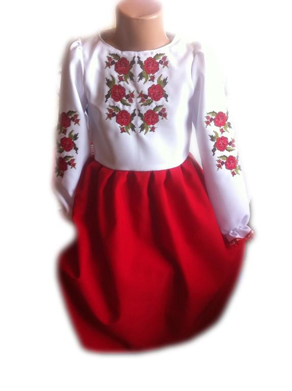 """Вишите плаття для дівчинки """"Люссі"""" (Вышитое платье для девочки """"Люсси"""") DT-0013"""