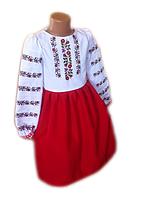 """Вишите плаття для дівчинки """"Мерін"""" (Вышитое платье для девочки """"Мерин"""") DT-0004"""
