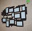 Фоторамка с надписью, фоторамка на стену, семейная фоторамка, фото 2