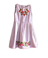 "Вишите плаття для дівчинки ""Лоррей"" (Вышитое платье для девочки ""Лоррей"") DT-0025"