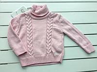 Детский вязаный свитер для девочки на 3 - 6 лет