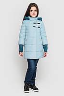 Куртка пальто на девочку плащевка на силиконе, Стейси Размеры 128- 158 Новинка