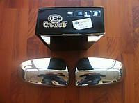 Накладки на зеркала (нерж.) Audi A4 (2000-2008)