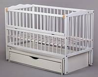 Кроватка для новорожденного маятник.ящик. Веселка (Дубок)