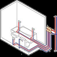 Монтаж стояков и разводки труб водоснабжения