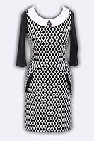 Платье из эко кожи № 1497 черное