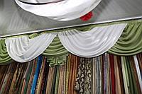 Оливковый  комплект ( шторы  + ламбрикен )(стандарт)