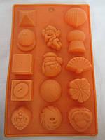 Силиконовая формочка для шоколада и льда, 20,5*12,5*1,5 см (60/50) (цена за 1 шт. +10 грн.)