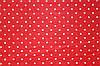 Фетр 249 Червоний в білий горошок 20х30 см товщина 1 мм