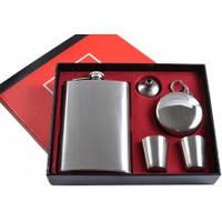 Подарочный набор  TZ9033 Фляга, 2 стопки, стакан, лейка