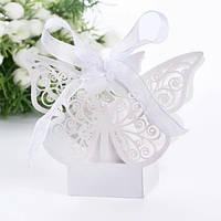 Бонбоньерки в виде бабочек, красивые свадебные бонбоньерки, фото 1