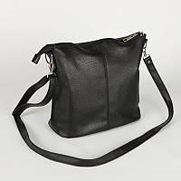 Черная сумочка на плечо М78-47 молодежная средняя