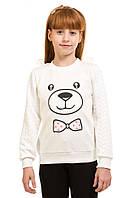 Ультрасовременная кофта комбинированная для девочки 5-10 лет (размер 110-140) ТМ Kids Couture