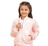 Флисовая кофточка Горох на молнии для девочки 5-11 лет (размер 110-146) ТМ Kids Couture