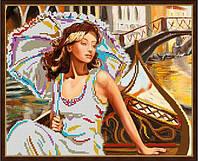 """Схема для вишивки бісером """"Під парасолею у Венеції"""""""