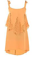 Платье № 1404 горчица