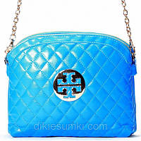 Женская сумка - клатч Tory Burch  голубая