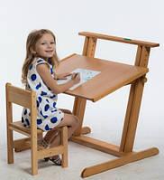 Детская парта Растишка и стульчик (Бук)
