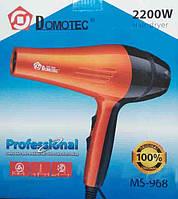Фен профессиональный Domotec MS 968, ионизация, 2200 Вт, 3 скорости 3 температурных режима, насадка концентрат