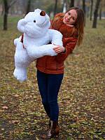 Белоснежный плюшевый мишка Умка размером 100 см