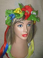 Венок луговые цветы (средний, простой) (85/70) (цена за 1шт. +15 грн), фото 1