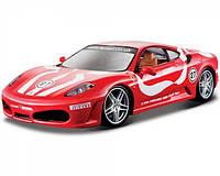 Автомодель Ferrari F430 Fiorano Bburago 1:24 желтый, красный