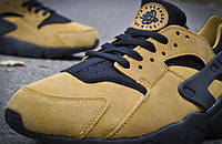 Мужские кроссовки Nike Air Huarache golden suede, фото 1
