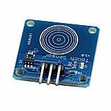 Ёмкостная сенсорная цифровая кнопка TTP223 TTP223B датчик касания, модуль для Arduino и других микроконтроллер, фото 3