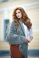 Оренбургский пуховый  платок 125х125 см. Серый