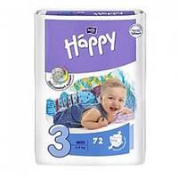 ПОДГУЗНИКИ «BELLA HAPPY MIDI 3» (5-9 КГ ) 72 ШТ