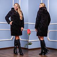 Демисезонное пальто с капюшоном  F  77981  Кофе (тон 2)