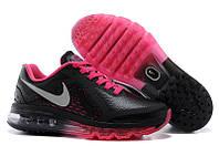 Кроссовки женские Nike Air max 2014 leather black-rose