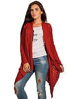 Кардиган красный женский модный