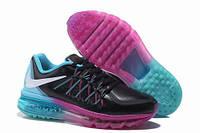 Кроссовки женские Nike Air max 2015 сиренево-голубые кожаные, фото 1