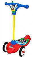 Самокат детский (скутер) – Микки-Маус (3 колеса, складной, свет, звук), Kiddieland