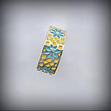 12051-1 Серебряный комплект Вышиванка с эмалью 925 пробы, фото 6