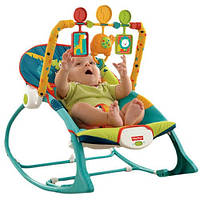 Кресло-качалка Fisher-Price Сафари с рождения до 4 лет Infant-To-Toddler Rocker