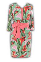 Платье неон розовое № 12702