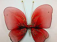 Декоративная Бабочка для штор красная