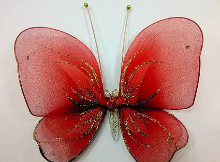 Декоративная Бабочка для штор красная, фото 2