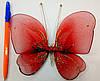 Декоративная Бабочка для штор красная, фото 3
