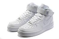 Кроссовки женские Nike Air force mid white, фото 1