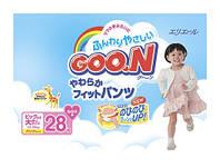 Трусики-подгузники GOO.N для девочек 13-25 кг (размер BigBig (XXL), 28 шт) Трусики-подгузники GOO.N для девочек