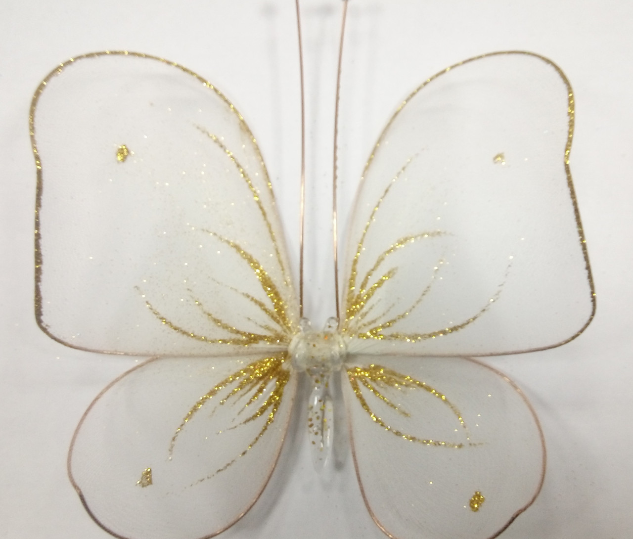 Декоративная Бабочка для штор белая