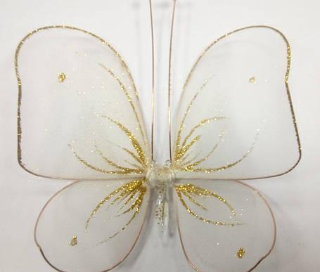 Декоративная Бабочка для штор белая, фото 2