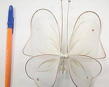 Декоративная Бабочка для штор белая, фото 3