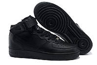 Кроссовки женские Nike Air force mid  black