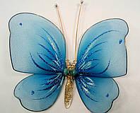 Декоративная Бабочка для штор голубая