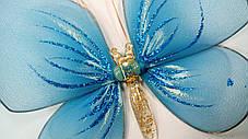 Декоративная Бабочка для штор голубая, фото 2