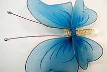 Декоративная Бабочка для штор голубая, фото 3